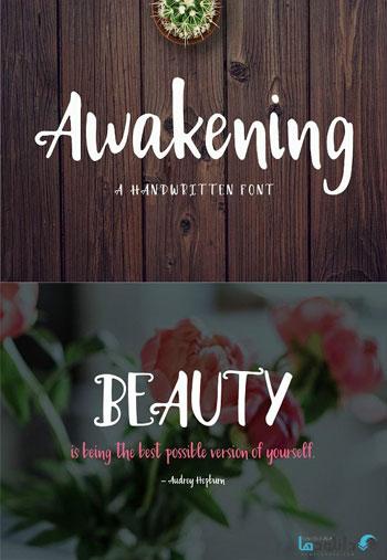 Awakening-Handwritten-Font