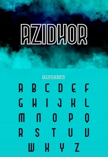 Azidhor-typeface