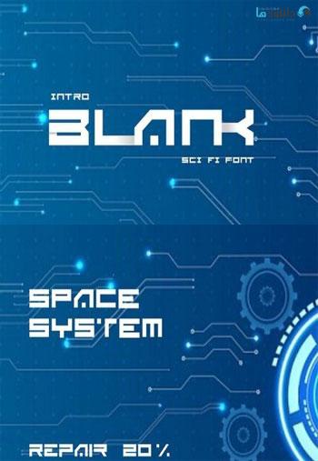 BLANK-Sci-Fi-Font