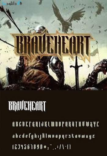 BRAVEHEART-Blackletter-Font