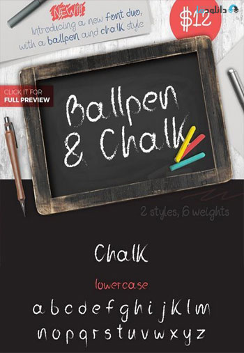 Ballpen-and-Chalk-Typeface