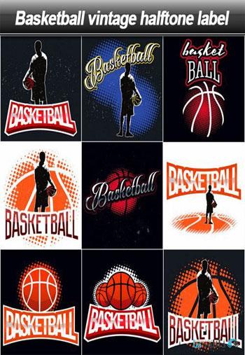 Basketball-vintage-halftone