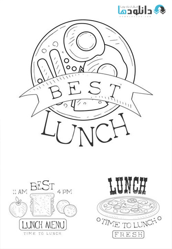 Best-Cafe-Lunch-Menu-Promo-Signs-In-Sketch-Style