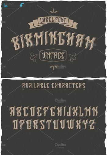 Birmingham-Vintage-Label