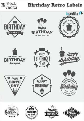 Birthday-Retro-Labels