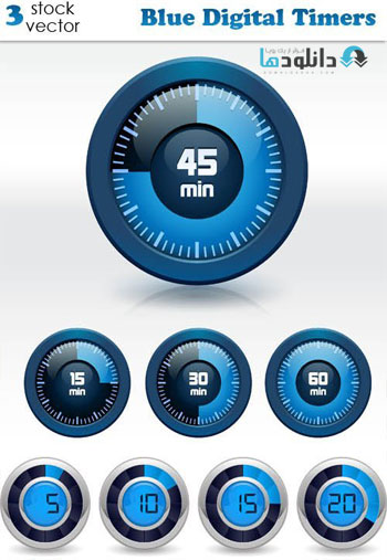 Blue-Digital-Timers-Icon