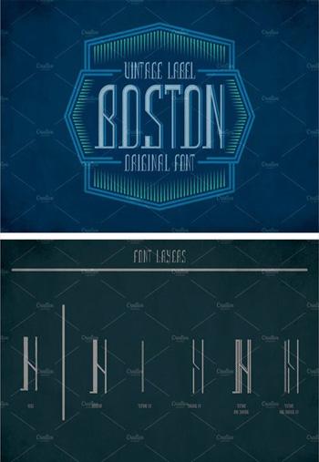 Boston-Vintage-Label-Typefa