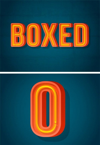 Boxed-Neon-Font