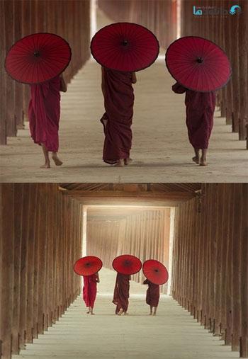 Burmaese-Three-novice-monks