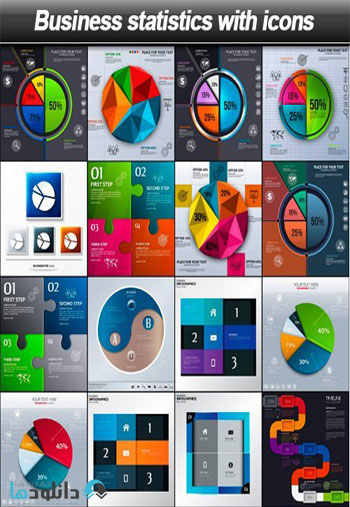 Business-statistics-with-icons