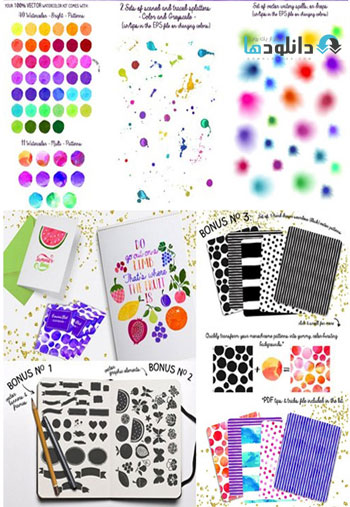 CM-Vector-Watercolor-Kit