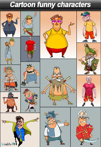 Cartoon-funny-characters