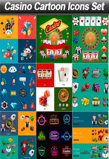 Casino-Cartoon-Icons-Set