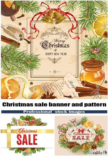 Christmas-sale-banner-and-pattern