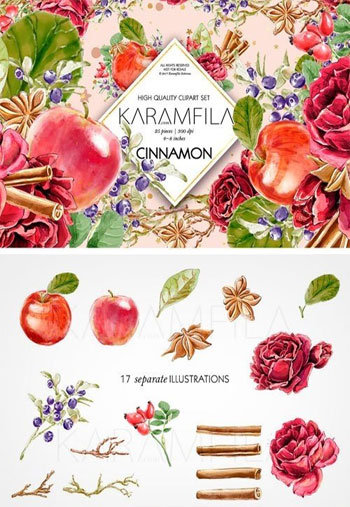 Cinnamon-and-Apples-Clipart