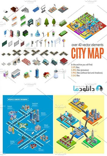 City-Map-Isometric-Elements.