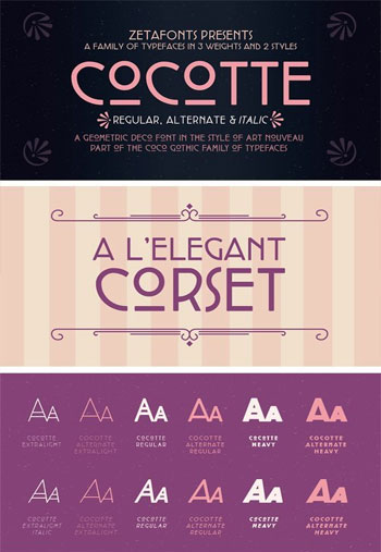 Cocotte-Font-Family