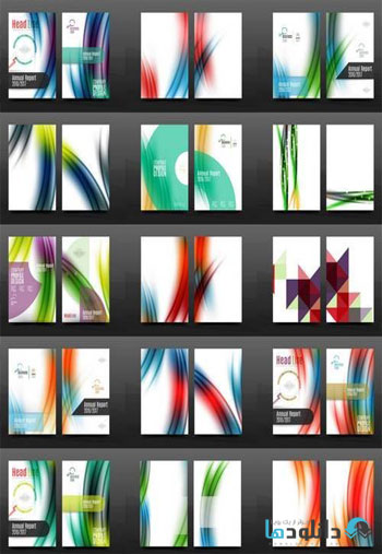 Collection-of-Business-Annual-Report-Covers-Vector