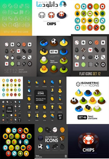 Color-icons-set-in-flat-isometric-illustration-style-vector-collection