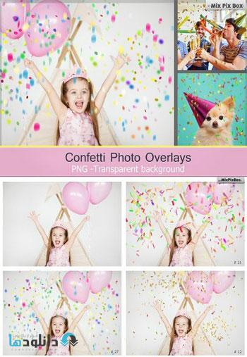 Confetti-overlays