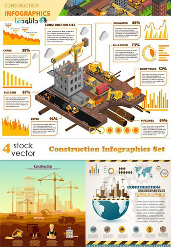 Construction-Infographics-Set