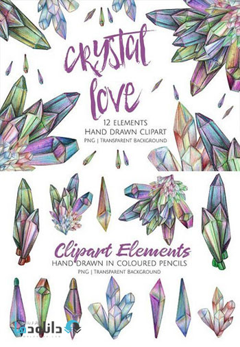 Crystal-Love-Clipart-Set