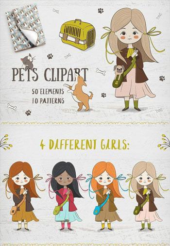 Cute-pets-clipart