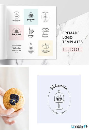 DELICIOUS-Premade-Logo-Set