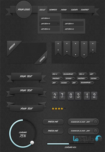 Dark-Ui-Kit-v1.0-Infographic-Kit
