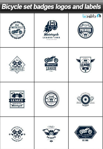 Bicycle-set-badges-logos