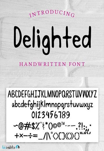 Delighted-Handwritten-Font