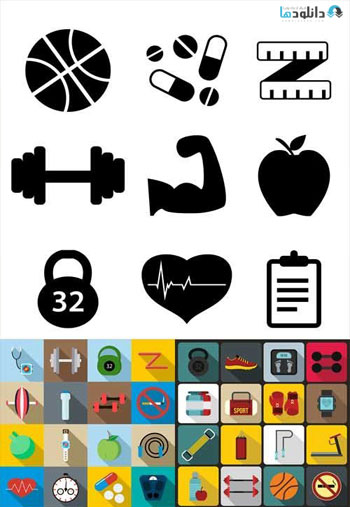 Fitness-Flat-Icons