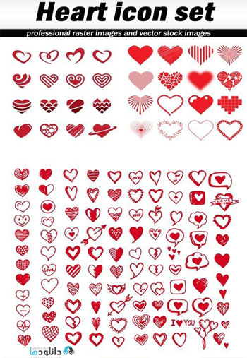 Heart-icon-set