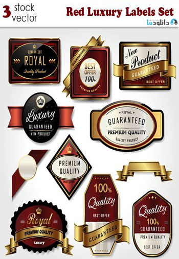 Red-Luxury-Labels-Set
