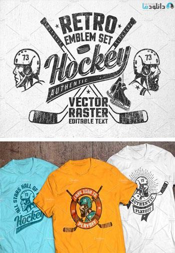 Retro-Hockey-Logos