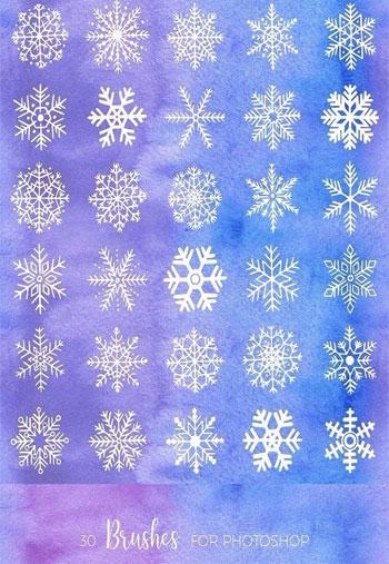 Snowy-Watercolor-Set