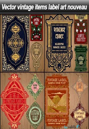 Vintage-items-label-art