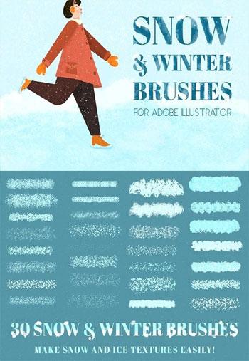 snow-winter-brushes