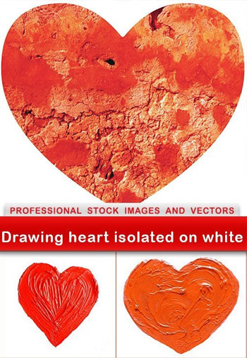 Drawing-heart-isolated