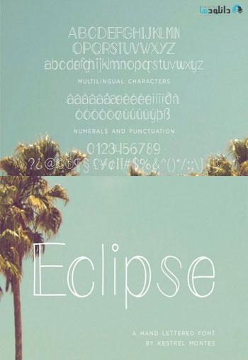 Eclipse-monoline-font
