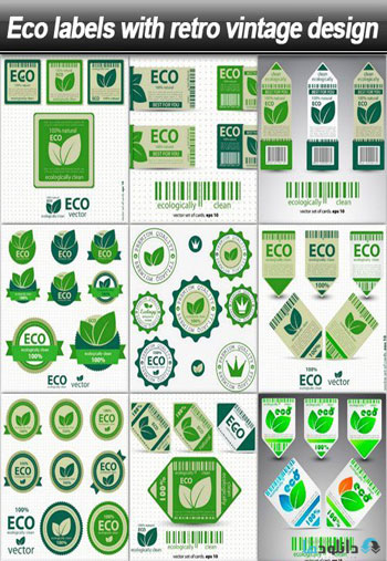 Eco-labels-with-retro-Vintage-Design
