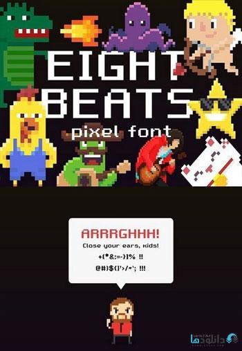Eight-Beats-pixel-font