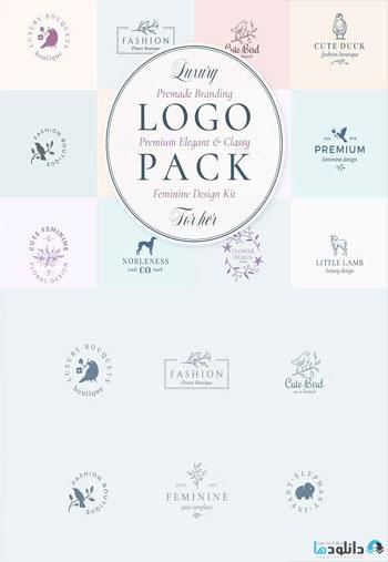 Elegant-Feminine-Premade-Logos-Set