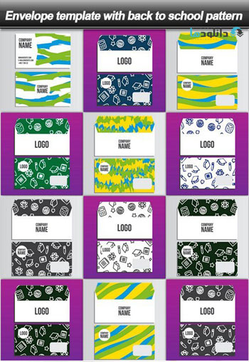 Envelope-template-with-back-to-school-pattern