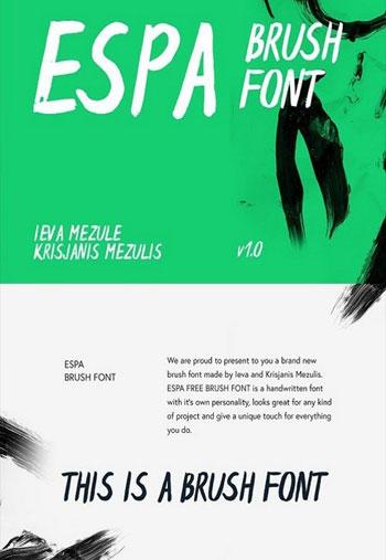 Espa-Brush-Font
