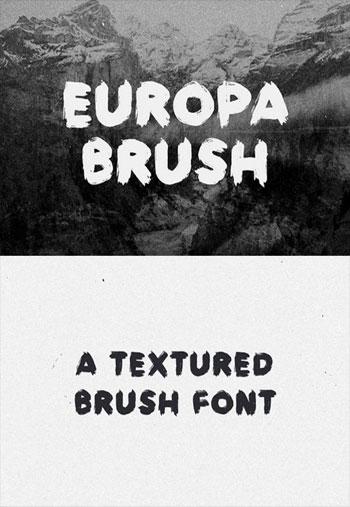 Europa-Brush-font
