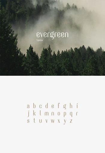 Evergreen-Typeface