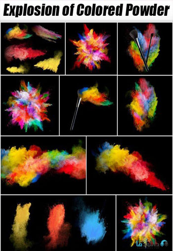 Explosion-of-Colored-Powder