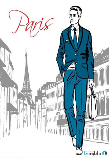 Fashion-illustration-street-of-Paris-and-Milan