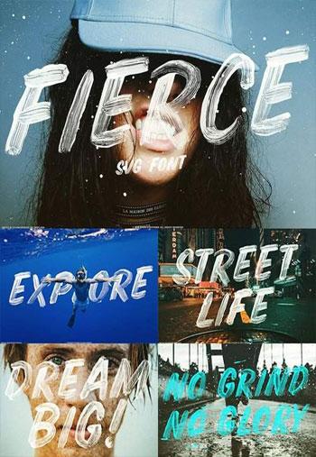 فونت-Fierce-font-SVG